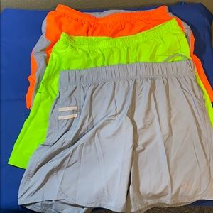 3 running shorts: 2 underarmour & 1 AF